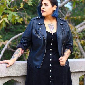 Plus Size Faux Suede Mini Dress size 2